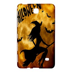 Halloween Wicked Witch Bat Moon Night Samsung Galaxy Tab 4 (7 ) Hardshell Case  by Alisyart