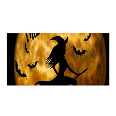 Halloween Wicked Witch Bat Moon Night Satin Wrap by Alisyart