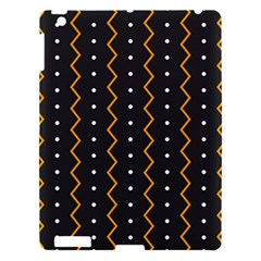 Halloween Zigzag Vintage Chevron Ornamental Cute Polka Dots Apple Ipad 3/4 Hardshell Case by Alisyart