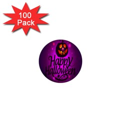 Happy Ghost Halloween 1  Mini Buttons (100 Pack)  by Alisyart