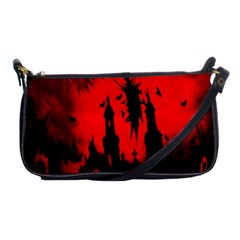 Big Eye Fire Black Red Night Crow Bird Ghost Halloween Shoulder Clutch Bags by Alisyart