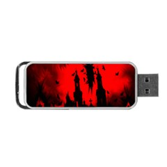 Big Eye Fire Black Red Night Crow Bird Ghost Halloween Portable Usb Flash (two Sides) by Alisyart