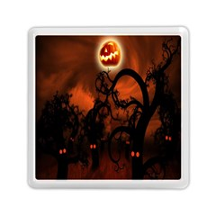 Halloween Pumpkins Tree Night Black Eye Jungle Moon Memory Card Reader (square)  by Alisyart