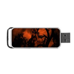 Halloween Pumpkins Tree Night Black Eye Jungle Moon Portable Usb Flash (two Sides) by Alisyart