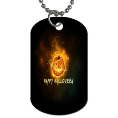 Happy Halloween Pumpkins Face Smile Face Ghost Night Dog Tag (one Side) by Alisyart