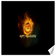 Happy Halloween Pumpkins Face Smile Face Ghost Night Canvas 16  X 16   by Alisyart
