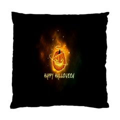 Happy Halloween Pumpkins Face Smile Face Ghost Night Standard Cushion Case (two Sides) by Alisyart