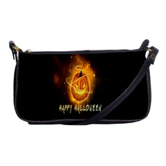 Happy Halloween Pumpkins Face Smile Face Ghost Night Shoulder Clutch Bags by Alisyart