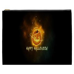 Happy Halloween Pumpkins Face Smile Face Ghost Night Cosmetic Bag (xxxl)  by Alisyart