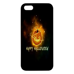 Happy Halloween Pumpkins Face Smile Face Ghost Night Apple Iphone 5 Premium Hardshell Case by Alisyart