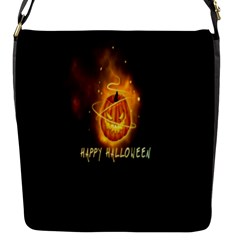 Happy Halloween Pumpkins Face Smile Face Ghost Night Flap Messenger Bag (s) by Alisyart