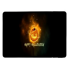 Happy Halloween Pumpkins Face Smile Face Ghost Night Samsung Galaxy Tab Pro 12 2  Flip Case by Alisyart