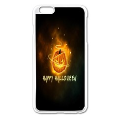 Happy Halloween Pumpkins Face Smile Face Ghost Night Apple Iphone 6 Plus/6s Plus Enamel White Case by Alisyart