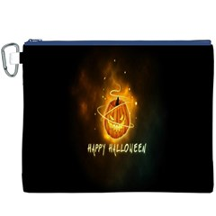 Happy Halloween Pumpkins Face Smile Face Ghost Night Canvas Cosmetic Bag (xxxl) by Alisyart