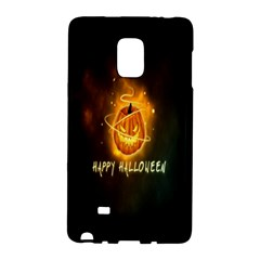 Happy Halloween Pumpkins Face Smile Face Ghost Night Galaxy Note Edge by Alisyart