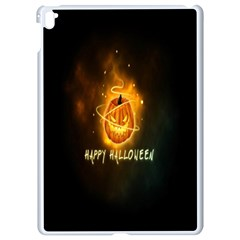 Happy Halloween Pumpkins Face Smile Face Ghost Night Apple Ipad Pro 9 7   White Seamless Case by Alisyart