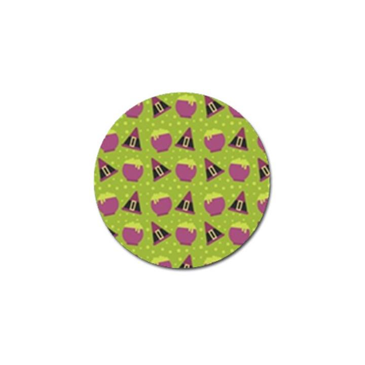 Hat Formula Purple Green Polka Dots Golf Ball Marker