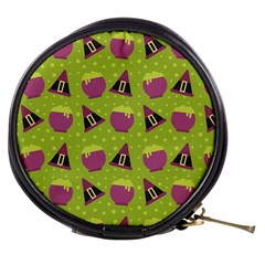 Hat Formula Purple Green Polka Dots Mini Makeup Bags by Alisyart