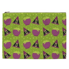 Hat Formula Purple Green Polka Dots Cosmetic Bag (xxl)  by Alisyart