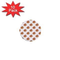 Face Mask Ghost Halloween Pumpkin Pattern 1  Mini Buttons (10 Pack)  by Alisyart