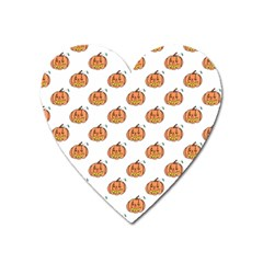 Face Mask Ghost Halloween Pumpkin Pattern Heart Magnet by Alisyart