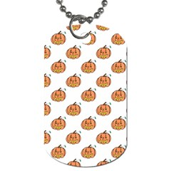 Face Mask Ghost Halloween Pumpkin Pattern Dog Tag (two Sides) by Alisyart