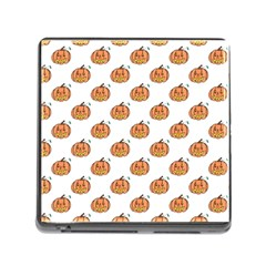 Face Mask Ghost Halloween Pumpkin Pattern Memory Card Reader (square) by Alisyart
