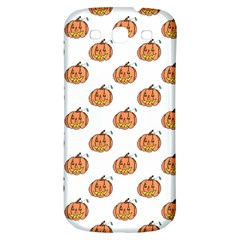 Face Mask Ghost Halloween Pumpkin Pattern Samsung Galaxy S3 S Iii Classic Hardshell Back Case by Alisyart