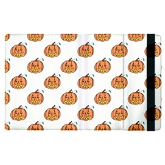 Face Mask Ghost Halloween Pumpkin Pattern Apple Ipad Pro 12 9   Flip Case by Alisyart