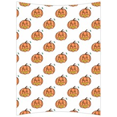 Face Mask Ghost Halloween Pumpkin Pattern Back Support Cushion by Alisyart