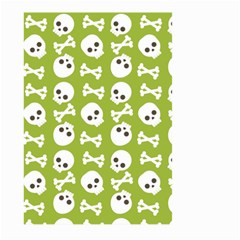 Skull Bone Mask Face White Green Large Garden Flag (two Sides) by Alisyart