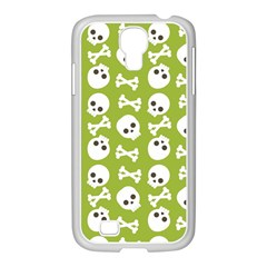 Skull Bone Mask Face White Green Samsung Galaxy S4 I9500/ I9505 Case (white) by Alisyart