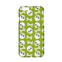 Skull Bone Mask Face White Green Apple Iphone 6/6s Hardshell Case by Alisyart