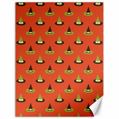 Hat Wicked Witch Ghost Halloween Red Green Black Canvas 18  X 24   by Alisyart