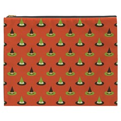 Hat Wicked Witch Ghost Halloween Red Green Black Cosmetic Bag (xxxl)  by Alisyart