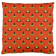 Hat Wicked Witch Ghost Halloween Red Green Black Standard Flano Cushion Case (one Side) by Alisyart