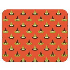Hat Wicked Witch Ghost Halloween Red Green Black Double Sided Flano Blanket (medium)  by Alisyart