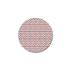 Red Flower Star Patterned Golf Ball Marker (10 Pack) by Alisyart