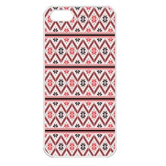 Red Flower Star Patterned Apple Iphone 5 Seamless Case (white) by Alisyart