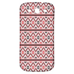 Red Flower Star Patterned Samsung Galaxy S3 S Iii Classic Hardshell Back Case by Alisyart