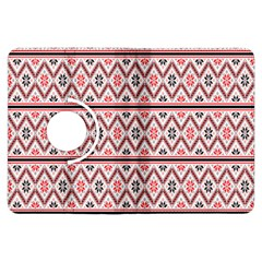 Red Flower Star Patterned Kindle Fire Hdx Flip 360 Case by Alisyart