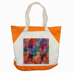 Rainbow Prism Plaid  Accent Tote Bag by KirstenStar