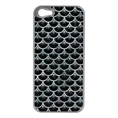 Scales3 Black Marble & Ice Crystals (r) Apple Iphone 5 Case (silver) by trendistuff