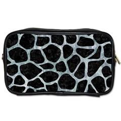 Skin1 Black Marble & Ice Crystals Toiletries Bags 2 Side by trendistuff