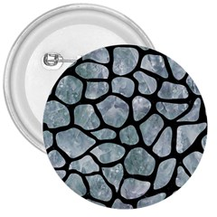 Skin1 Black Marble & Ice Crystals (r) 3  Buttons by trendistuff