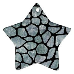 Skin1 Black Marble & Ice Crystals (r) Star Ornament (two Sides) by trendistuff