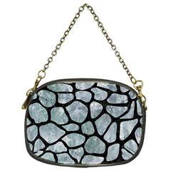 Skin1 Black Marble & Ice Crystals (r) Chain Purses (one Side)  by trendistuff