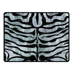 Skin2 Black Marble & Ice Crystals Fleece Blanket (small)