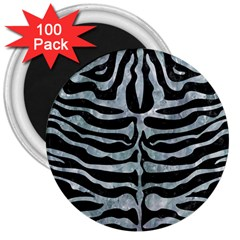 Skin2 Black Marble & Ice Crystals (r) 3  Magnets (100 Pack) by trendistuff