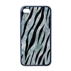 Skin3 Black Marble & Ice Crystals Apple Iphone 4 Case (black) by trendistuff